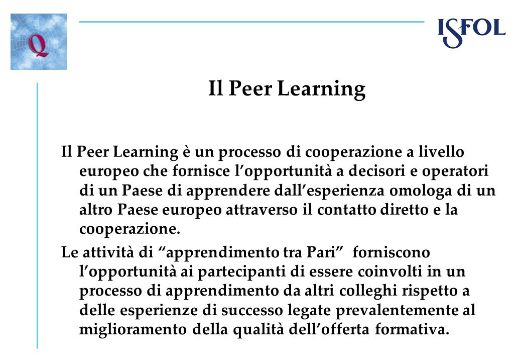 Il Peer Learning
