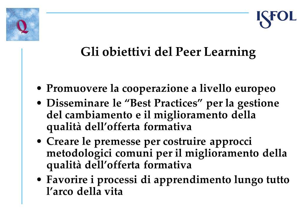 Gli obiettivi del Peer Learning