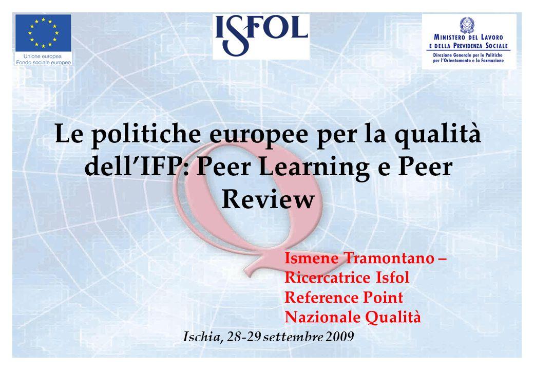 Le politiche europee per la qualità dell'IFP: Peer Learning e Peer Review
