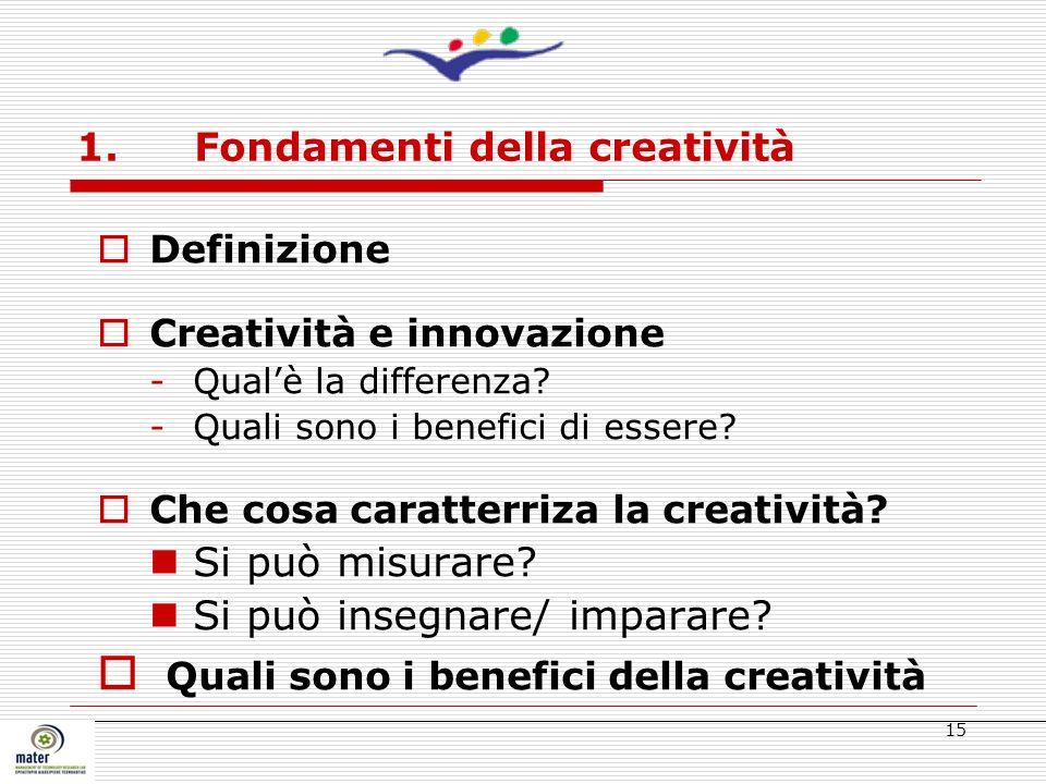 1. Fondamenti della creatività