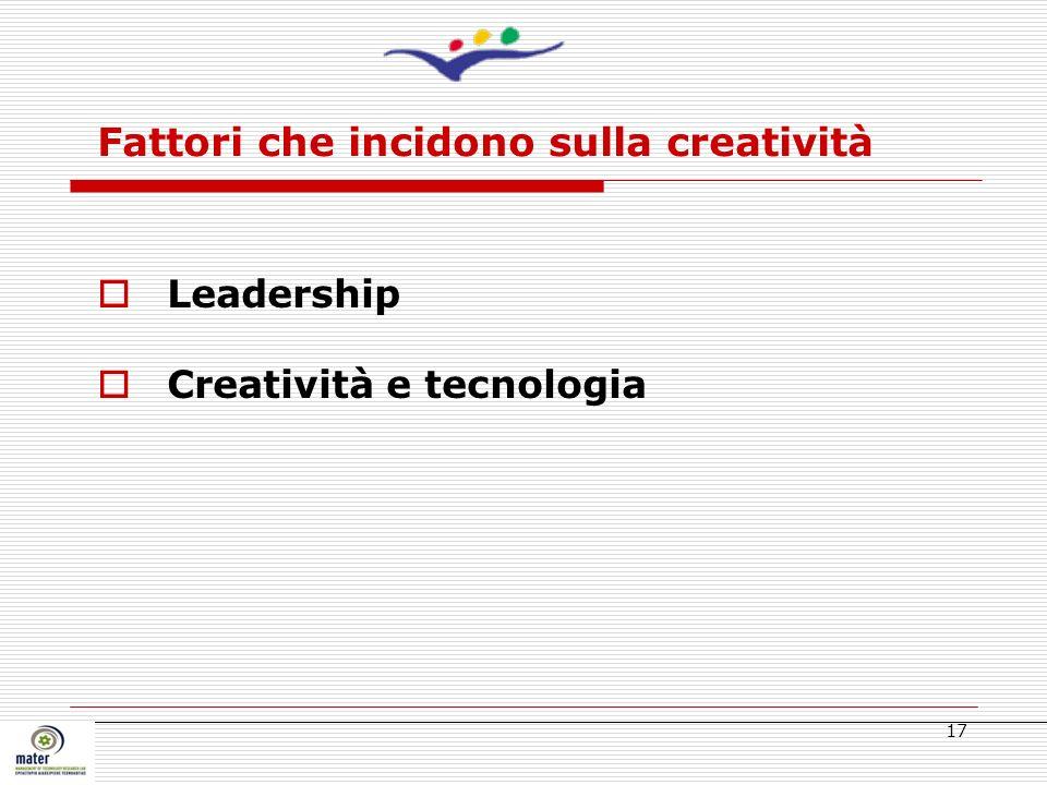 Fattori che incidono sulla creatività