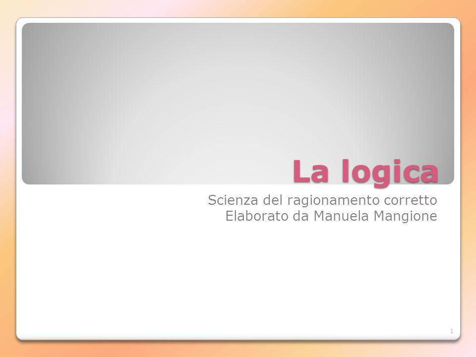 Scienza del ragionamento corretto Elaborato da Manuela Mangione
