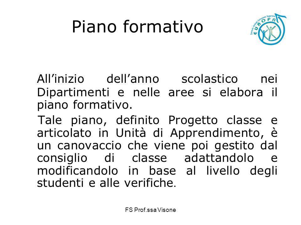 Piano formativoAll'inizio dell'anno scolastico nei Dipartimenti e nelle aree si elabora il piano formativo.