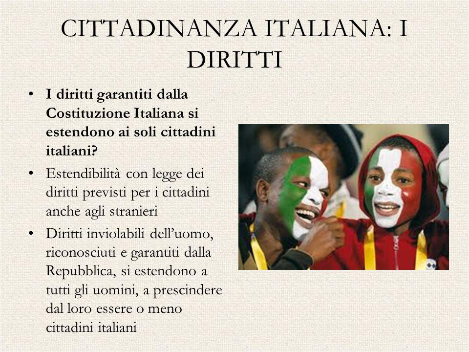 CITTADINANZA ITALIANA: I DIRITTI