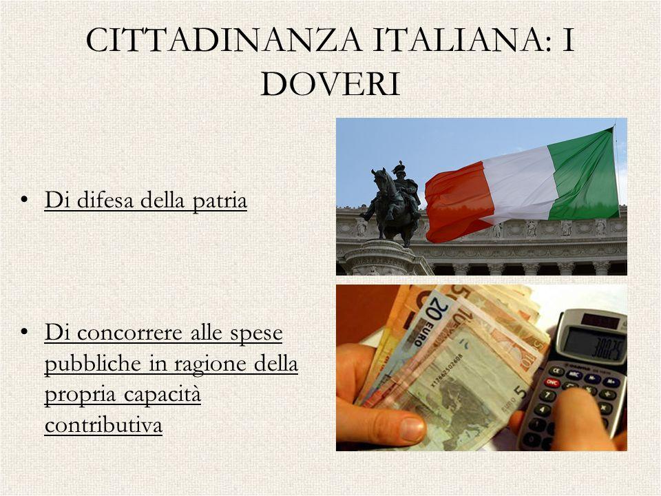 CITTADINANZA ITALIANA: I DOVERI
