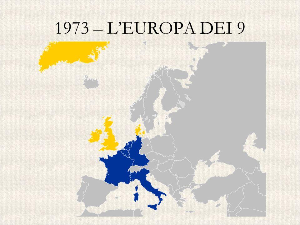 1973 – L'EUROPA DEI 9 UK – IRLANDA - DANIMARCA