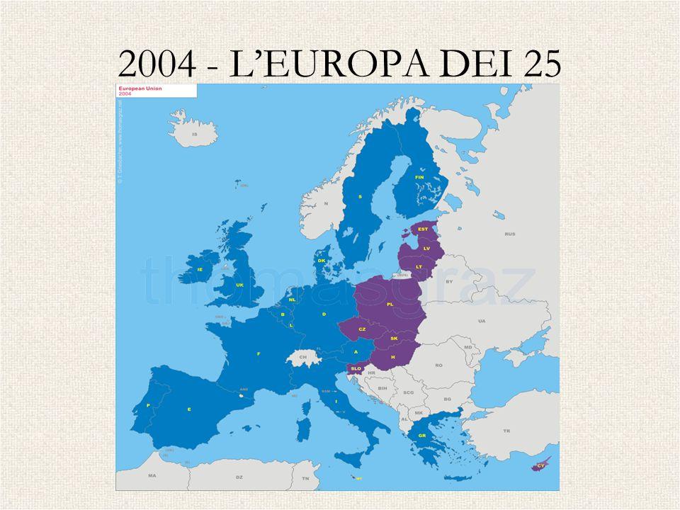 2004 - L'EUROPA DEI 25CIPRO – ESTONIA – LETTONIA – LITUANIA – MALTA – POLONIA – REP.