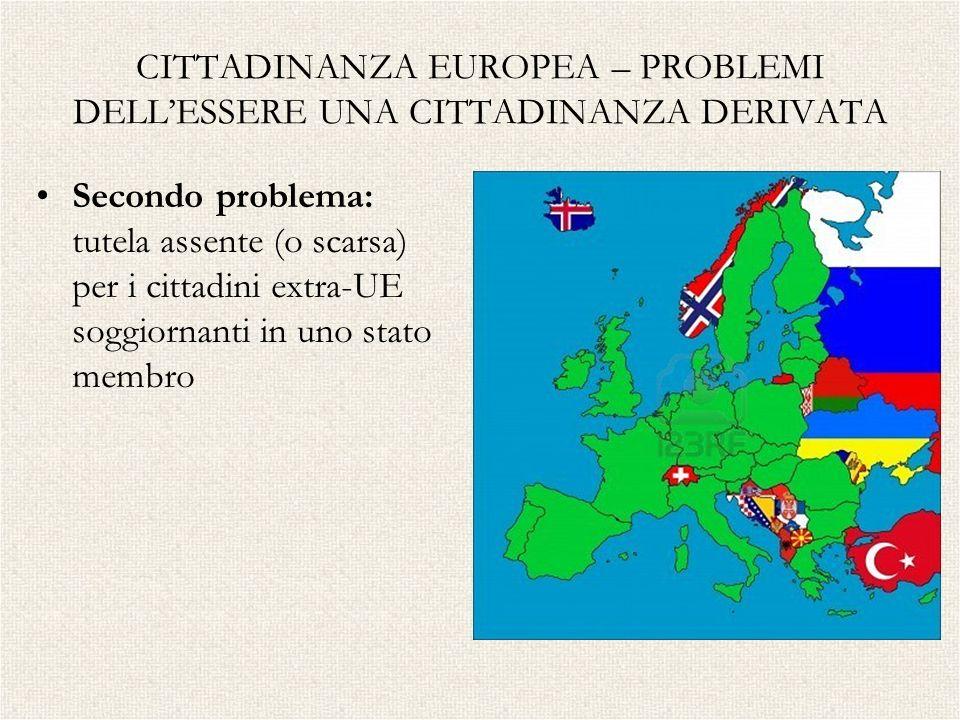 CITTADINANZA EUROPEA – PROBLEMI DELL'ESSERE UNA CITTADINANZA DERIVATA