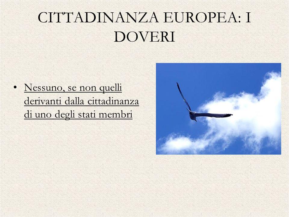 CITTADINANZA EUROPEA: I DOVERI