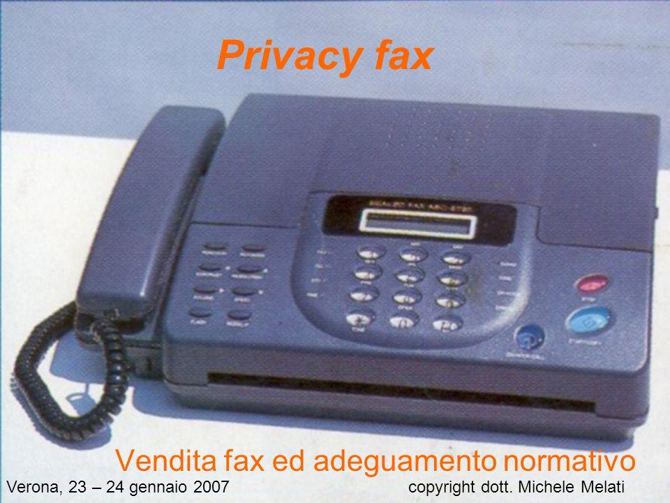 Vendita fax ed adeguamento normativo