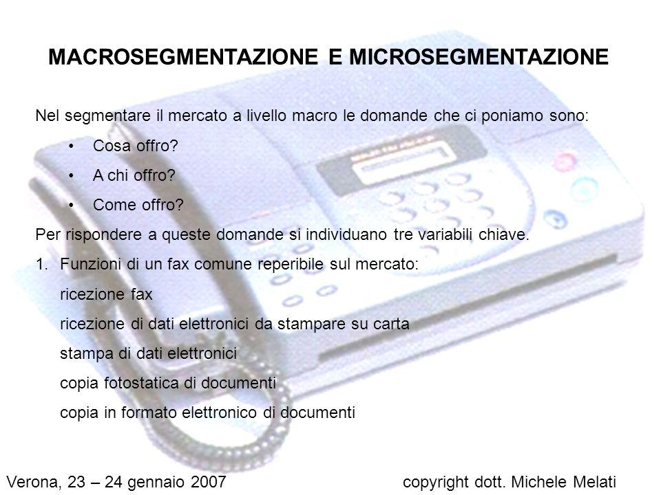MACROSEGMENTAZIONE E MICROSEGMENTAZIONE