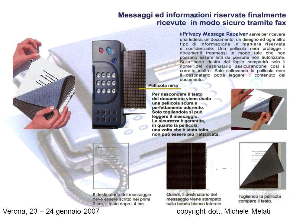 Verona, 23 – 24 gennaio 2007 copyright dott. Michele Melati