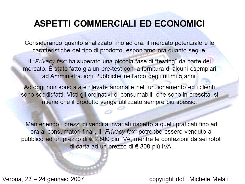ASPETTI COMMERCIALI ED ECONOMICI