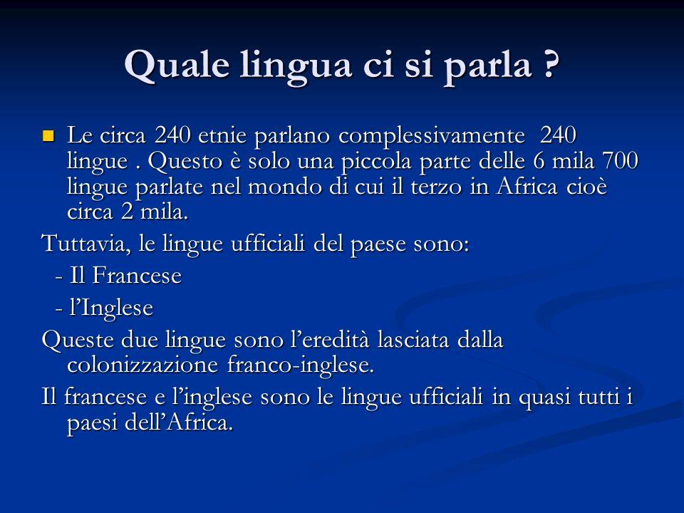 Quale lingua ci si parla