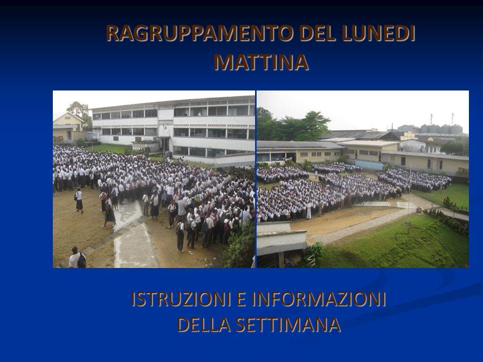 RAGRUPPAMENTO DEL LUNEDI MATTINA