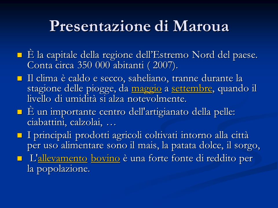 Presentazione di Maroua