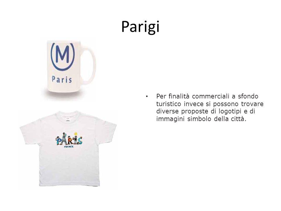 Parigi Per finalità commerciali a sfondo turistico invece si possono trovare diverse proposte di logotipi e di immagini simbolo della città.