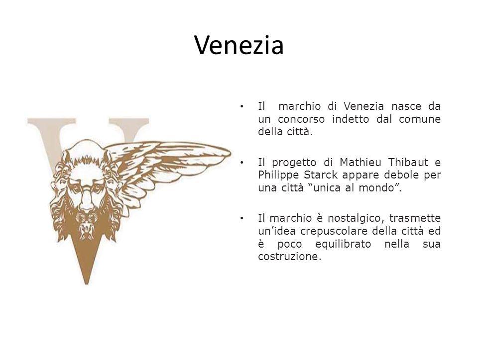 Venezia Il marchio di Venezia nasce da un concorso indetto dal comune della città.