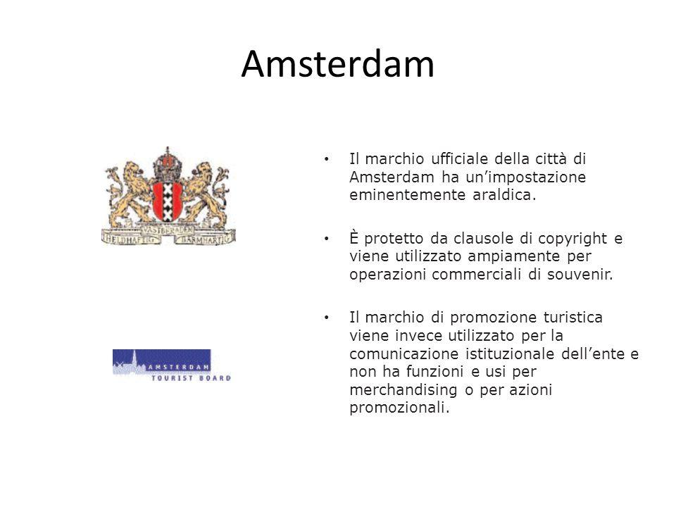 Amsterdam Il marchio ufficiale della città di Amsterdam ha un'impostazione eminentemente araldica.