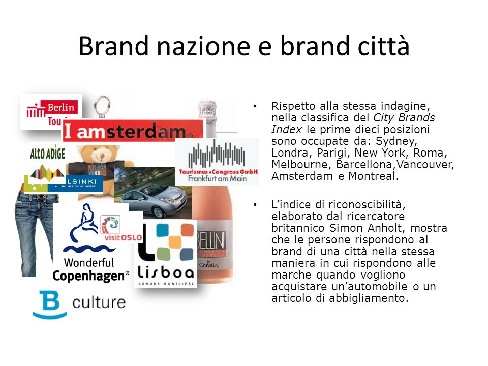 Brand nazione e brand città