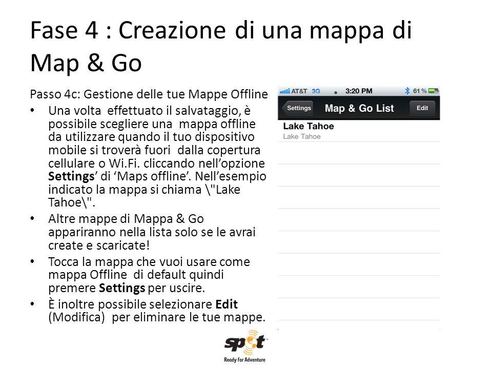 Fase 4 : Creazione di una mappa di Map & Go