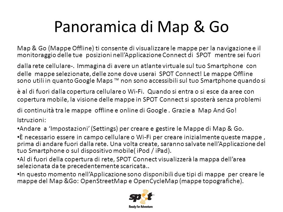 Panoramica di Map & Go