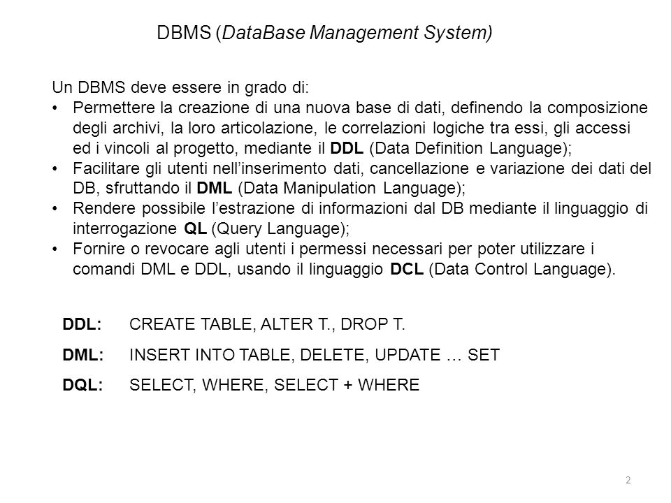 DBMS (DataBase Management System)