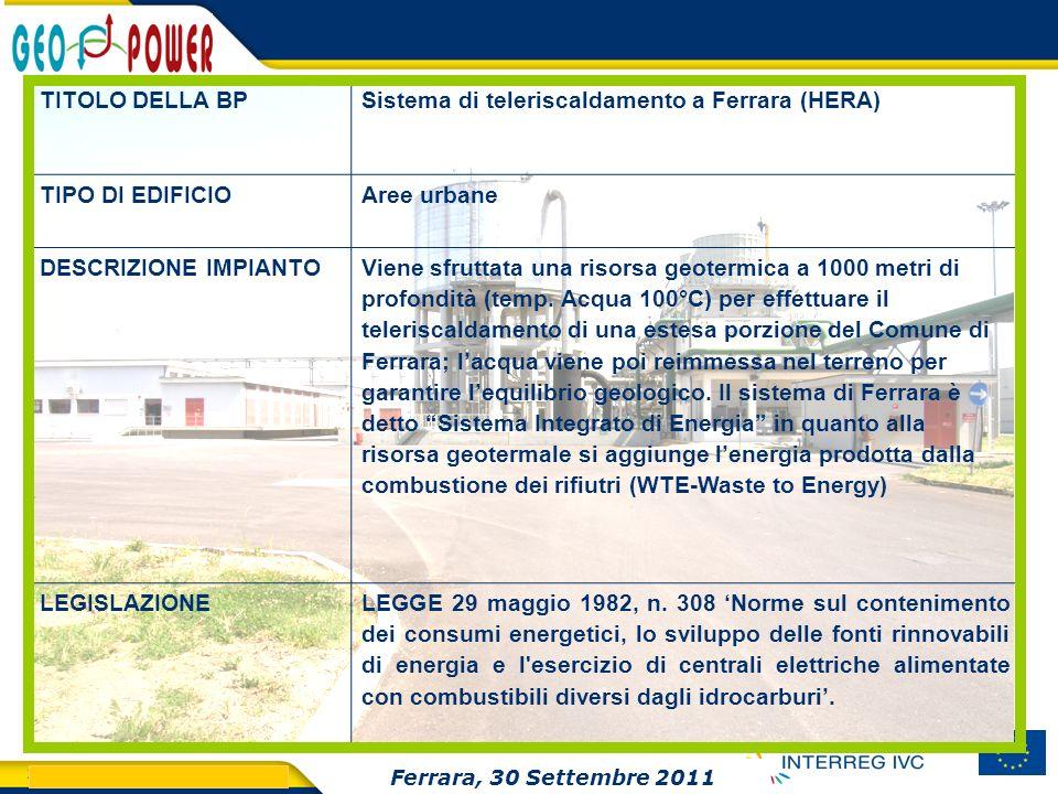 Sistema di teleriscaldamento a Ferrara (HERA)