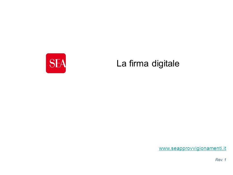 La firma digitale www.seapprovvigionamenti.it Cover presentazione