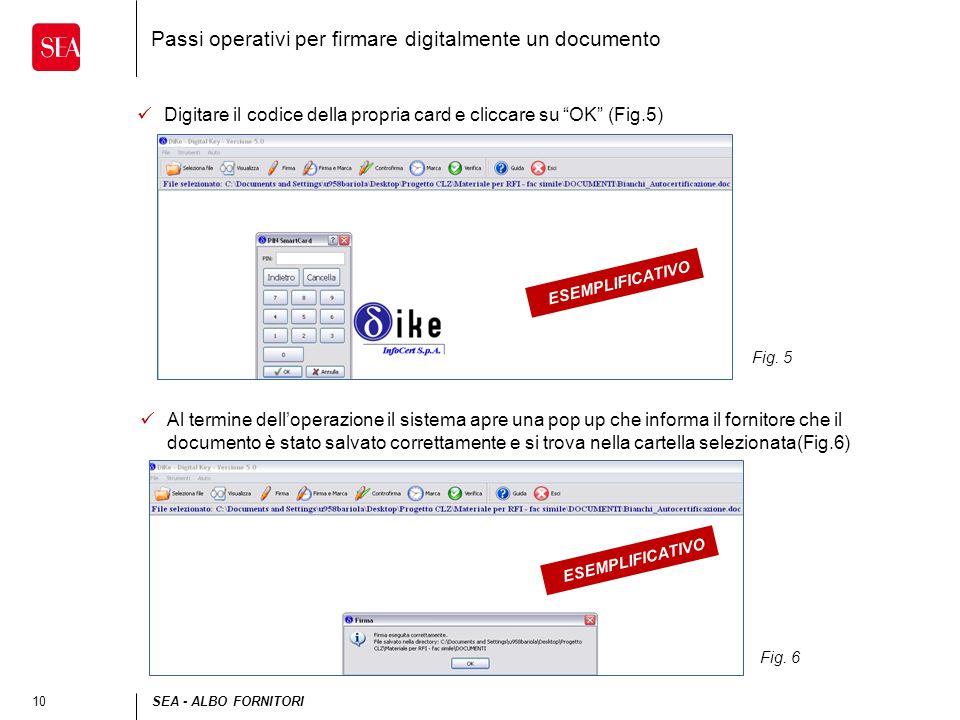 Passi operativi per firmare digitalmente un documento
