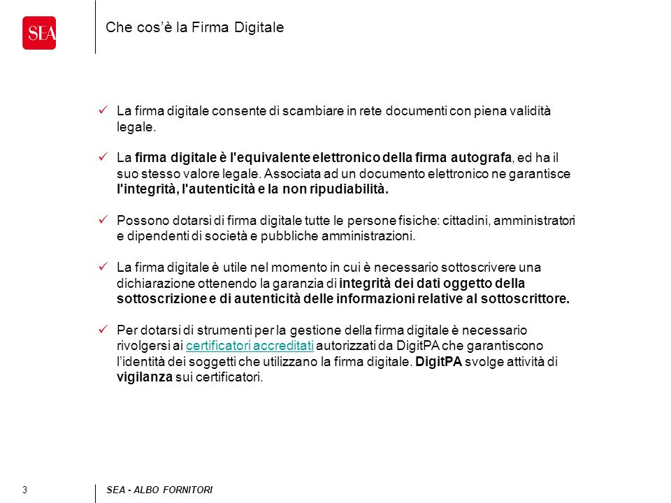 Che cos'è la Firma Digitale