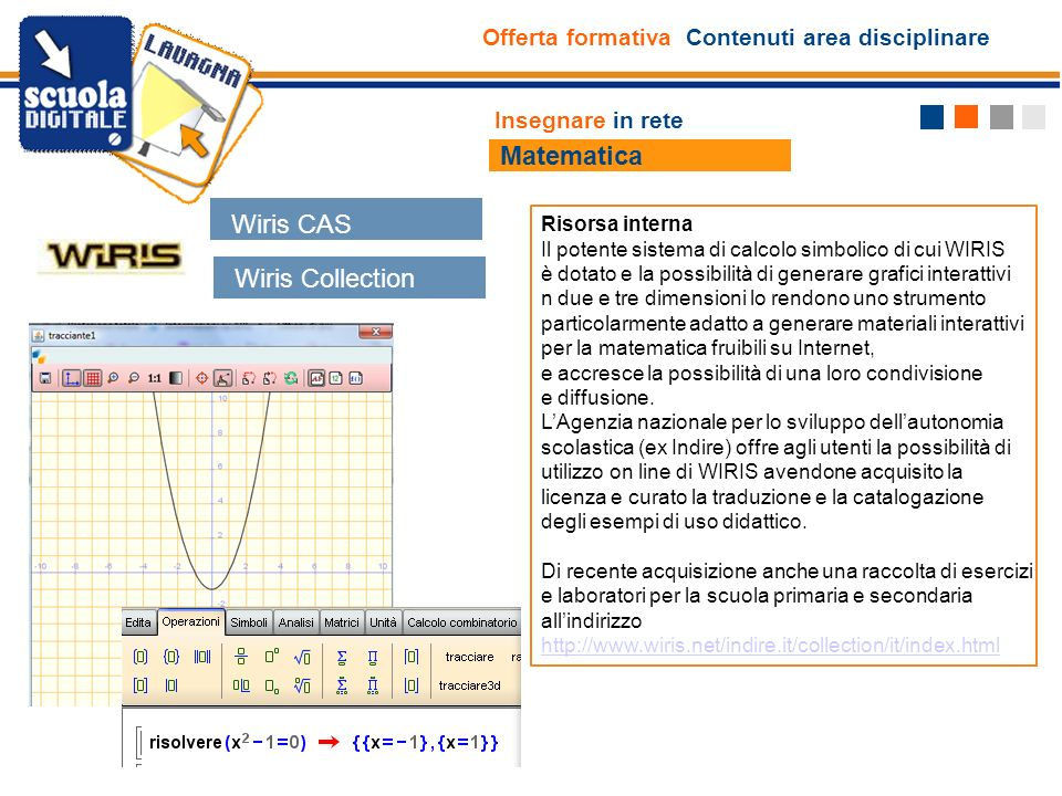 Matematica Wiris CAS Wiris Collection