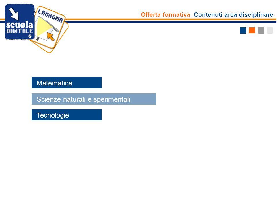Scienze naturali e sperimentali