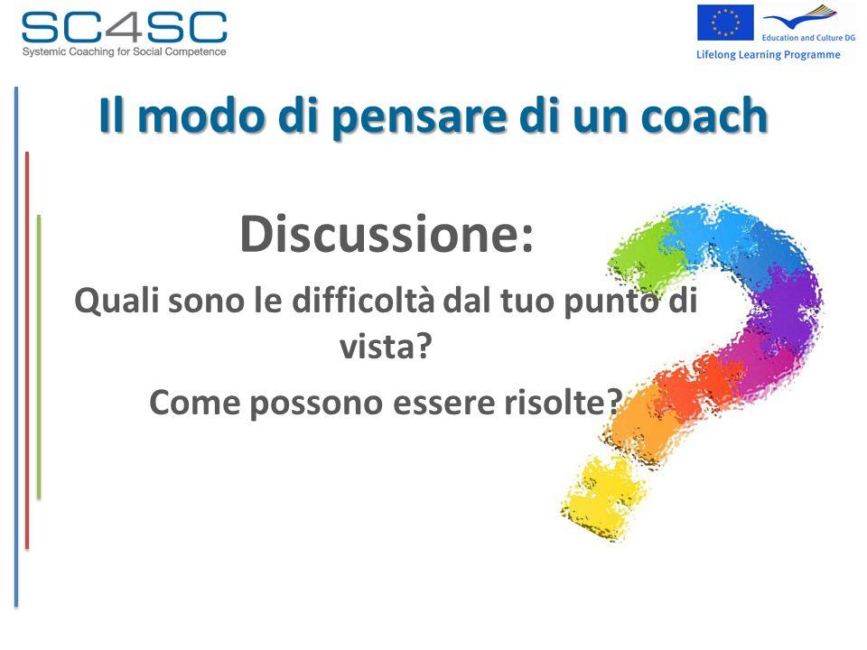 Il modo di pensare di un coach