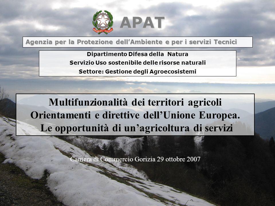 APAT Agenzia per la Protezione dell'Ambiente e per i servizi Tecnici. Dipartimento Difesa della Natura.