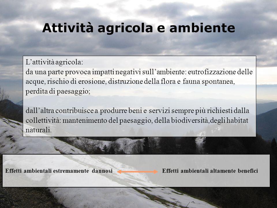 Attività agricola e ambiente
