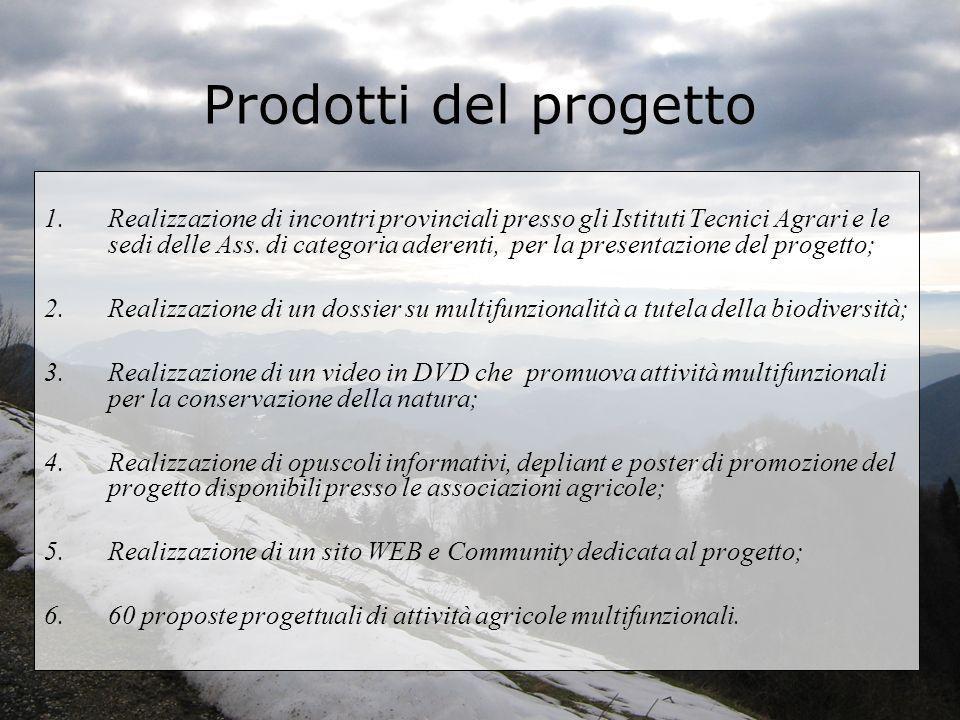 Prodotti del progetto