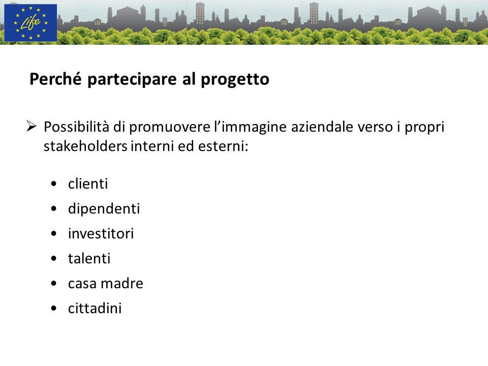 Perché partecipare al progetto