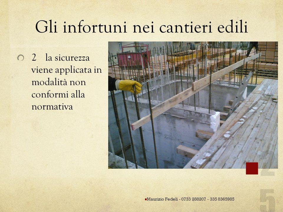 Gli infortuni nei cantieri edili