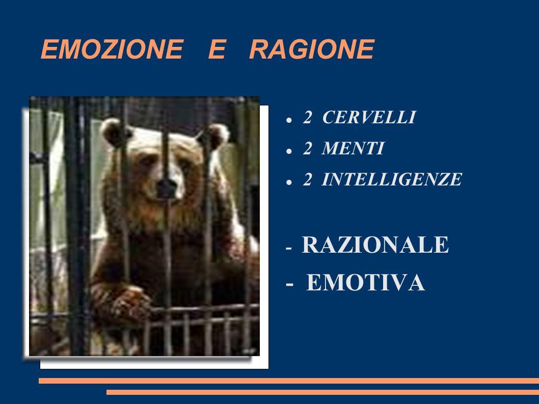 EMOZIONE E RAGIONE - EMOTIVA 2 CERVELLI 2 MENTI 2 INTELLIGENZE