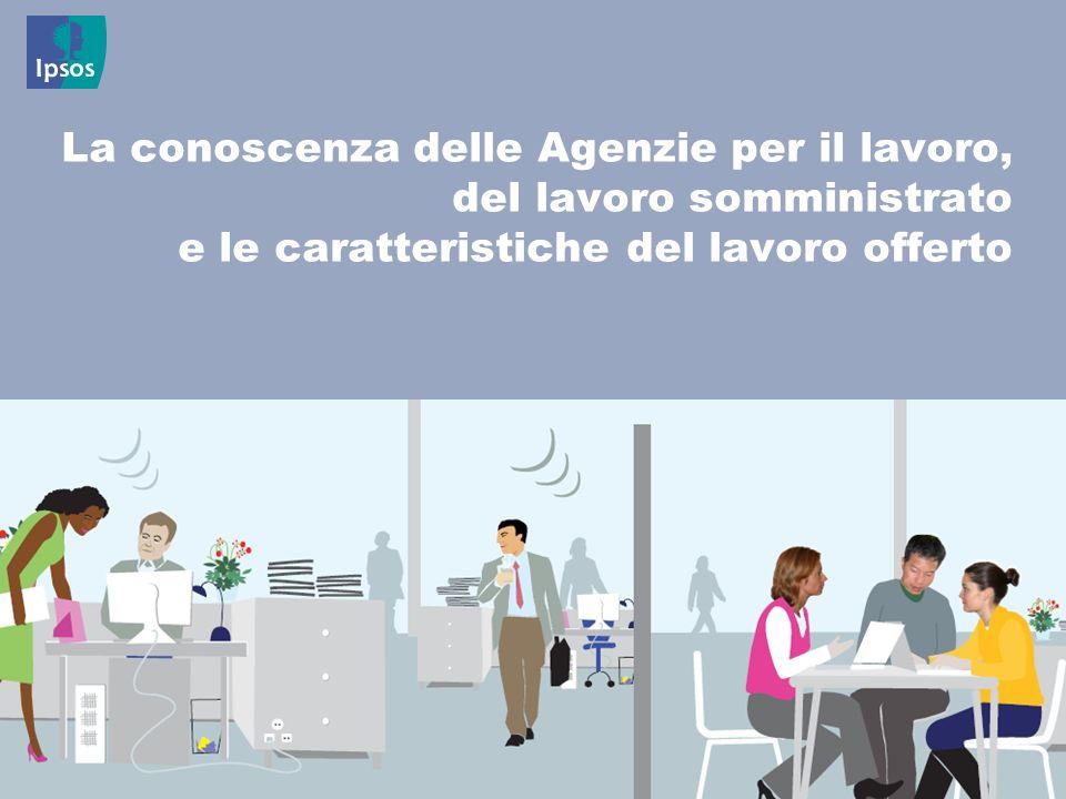 La conoscenza delle Agenzie per il lavoro, del lavoro somministrato e le caratteristiche del lavoro offerto