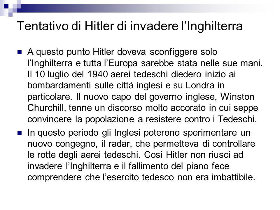 Tentativo di Hitler di invadere l'Inghilterra