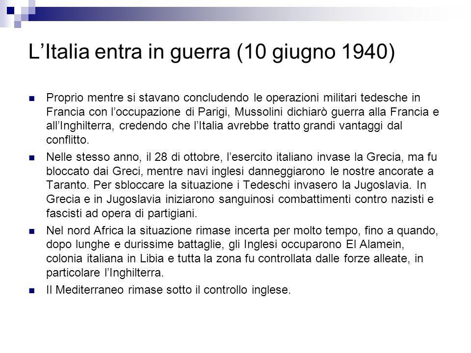 L'Italia entra in guerra (10 giugno 1940)