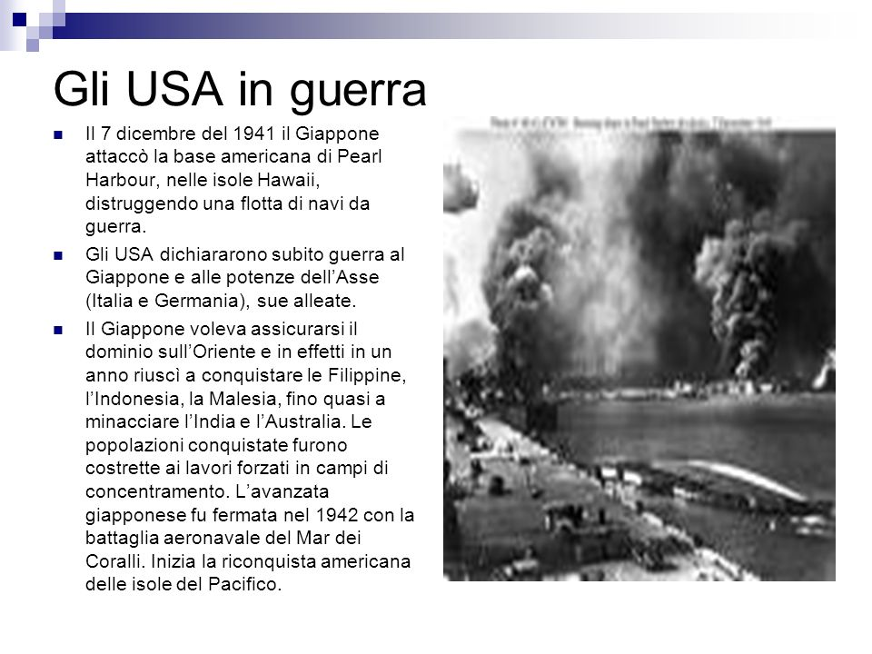 Gli USA in guerra