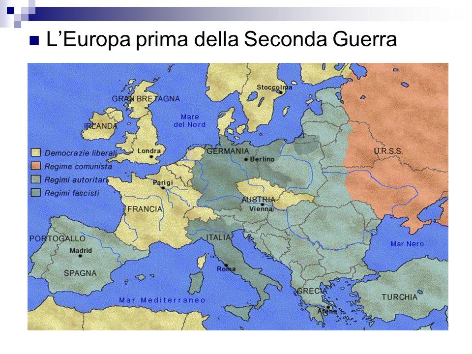 L'Europa prima della Seconda Guerra