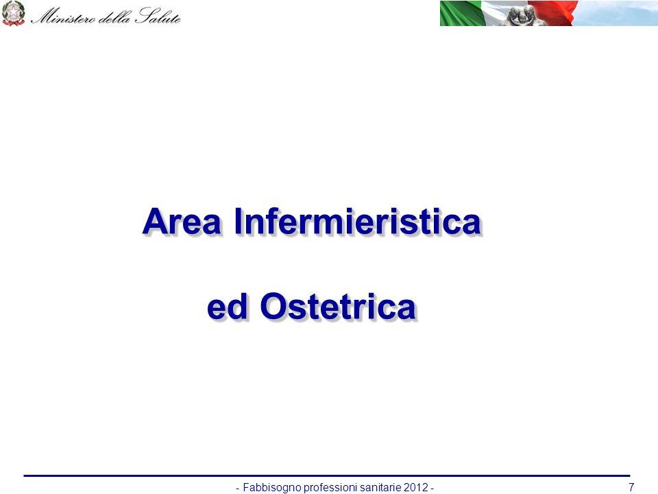 - Fabbisogno professioni sanitarie 2012 -