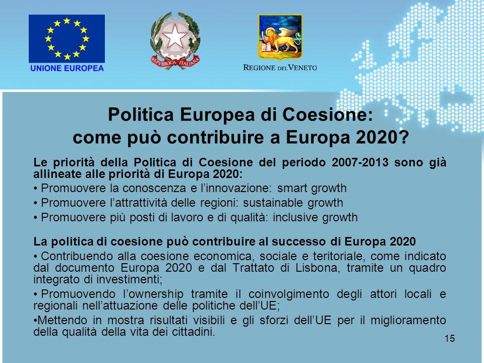 Politica Europea di Coesione: come può contribuire a Europa 2020