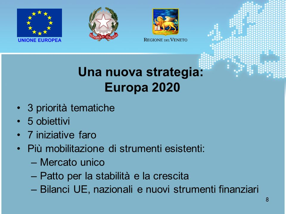 Una nuova strategia: Europa 2020