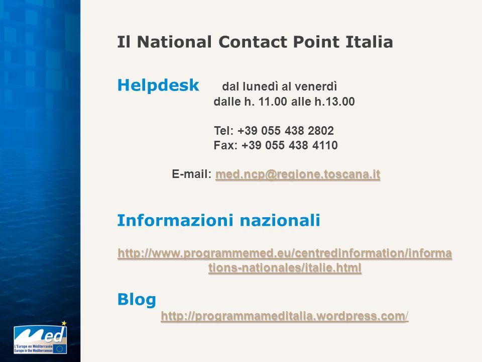 Il National Contact Point Italia Helpdesk dal lunedì al venerdì