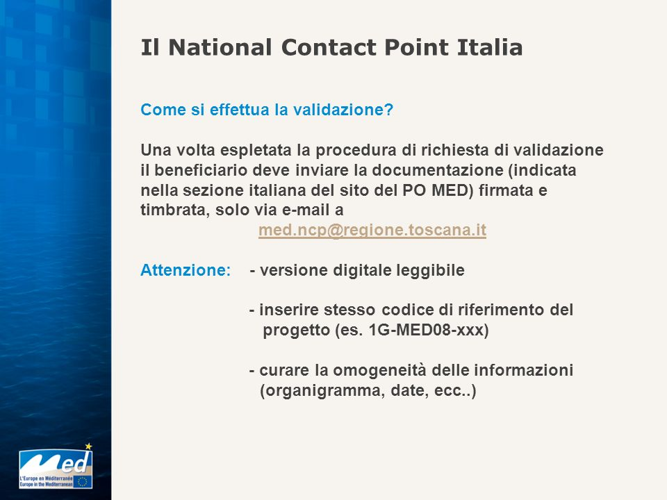 Il National Contact Point Italia